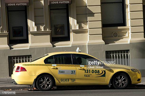 Yellow Cab in a Melbourne Street