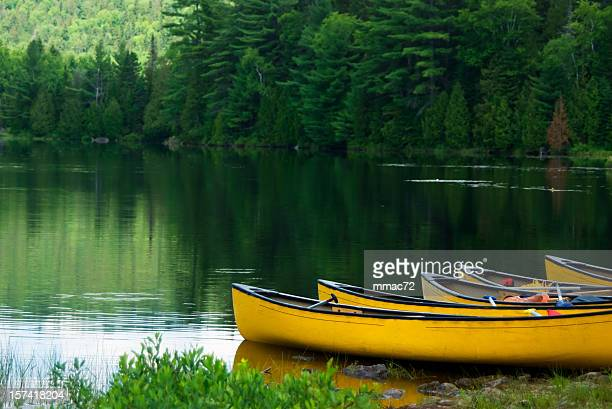yellow canoes