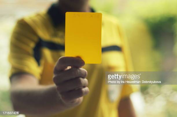 yellow card - yellow card stock pictures, royalty-free photos & images