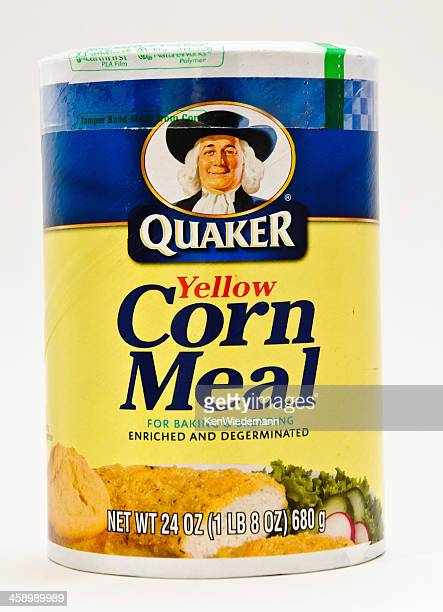 yellow corn meal container - quaker oats stock pictures, royalty-free photos & images