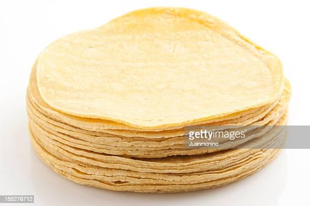 yellow corn tortillas - tortilla flatbread stock photos and pictures