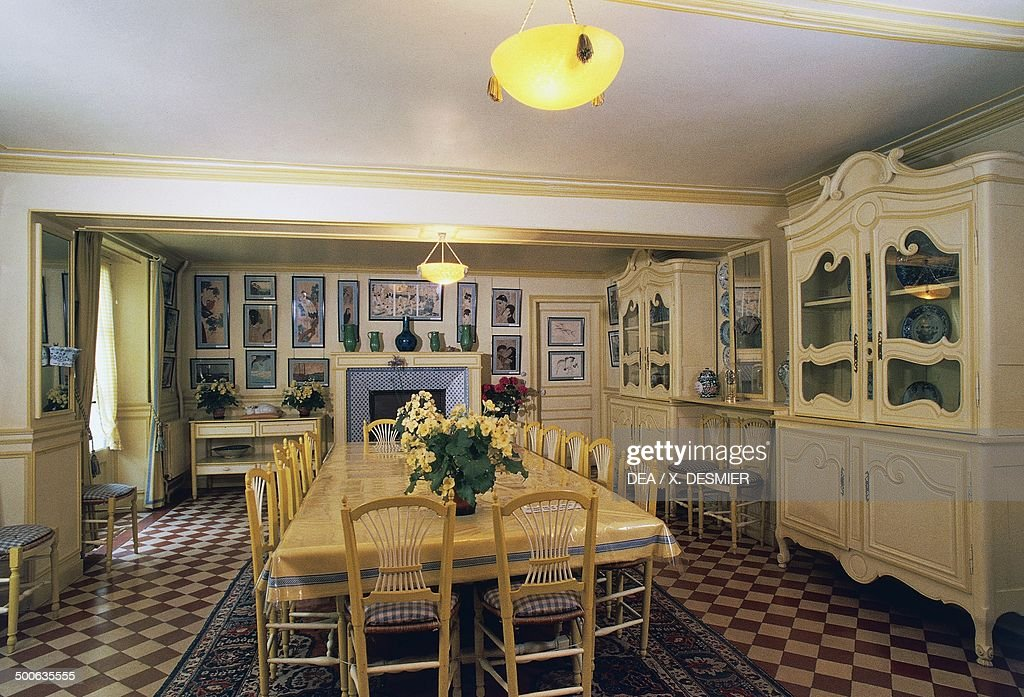 Yellow Dining Room In Claude Monetu0027s House (1840 1926), Giverny, Upper
