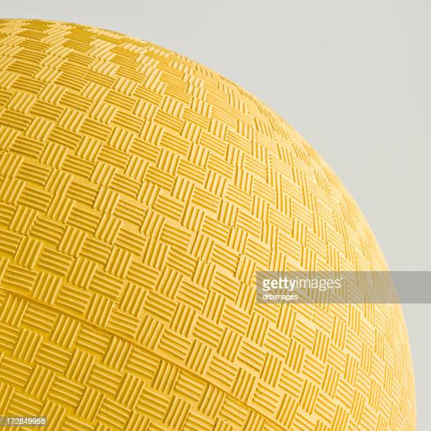 yellow dodgeball - kickball stock photos and pictures