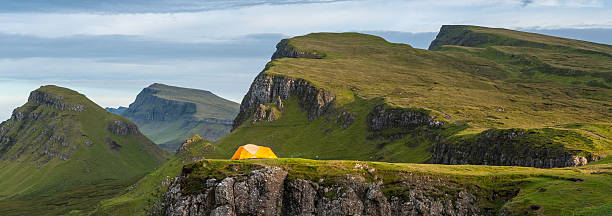 Yellow Dome Tent In Dramatic Mountain Wilderness Highlands Scotland Wall Art
