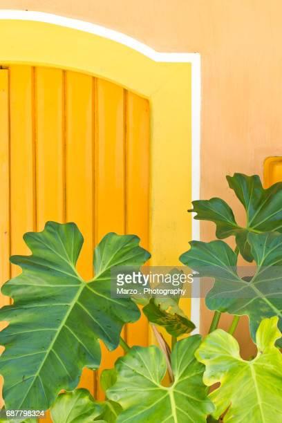 yellow door - trancoso imagens e fotografias de stock