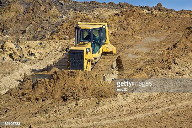 Yellow Earth Mover at work