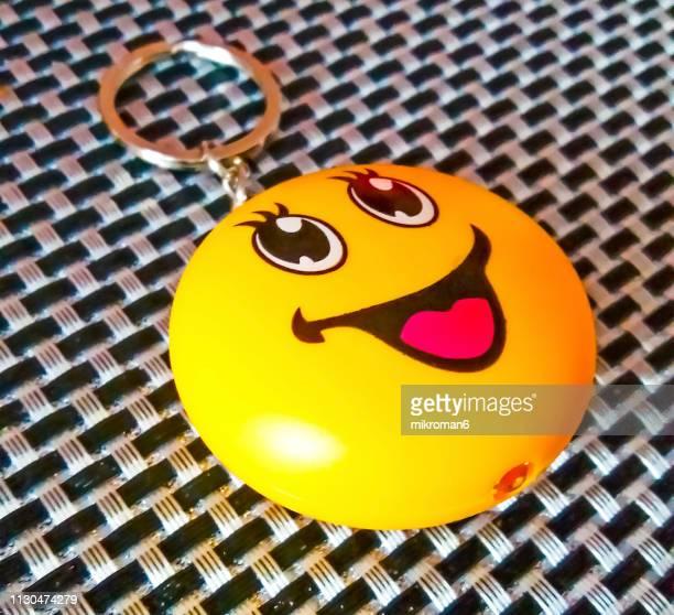Yellow Emoticons Smile Keychain