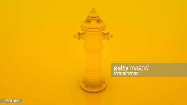 yellow fire hydrant minimal idea concept