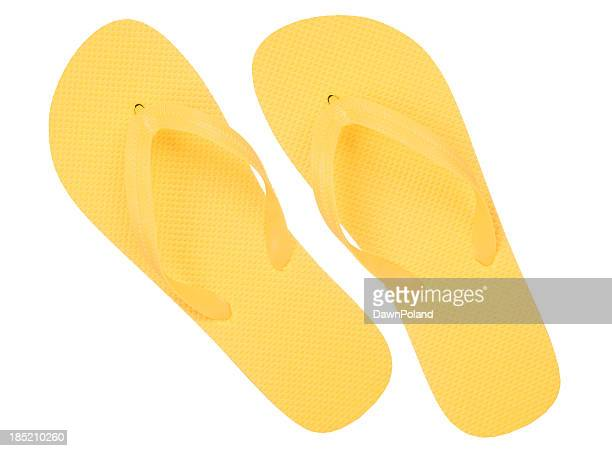 yellow flip flops - sandal stock pictures, royalty-free photos & images