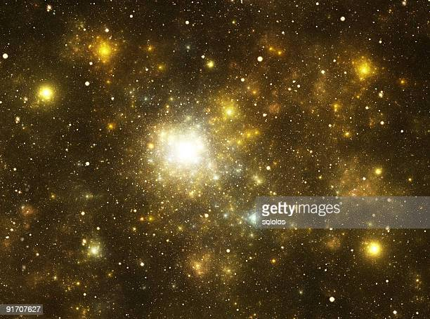 yellow galaxy - paranormal stock pictures, royalty-free photos & images