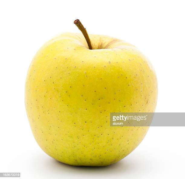yellow golden apple - yellow stock pictures, royalty-free photos & images