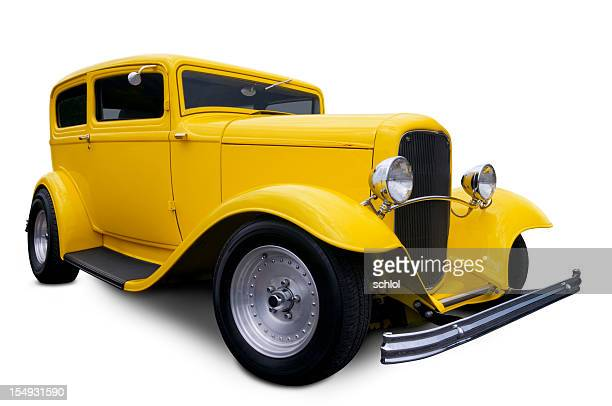 yellow hot rod - low rider stock pictures, royalty-free photos & images