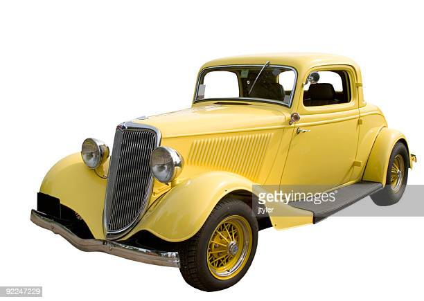 yellow hot rod - 1920 car stock photos and pictures