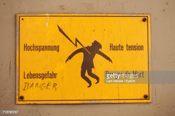 yellow information sign - esch sur alzette stock pictures, royalty-free photos & images