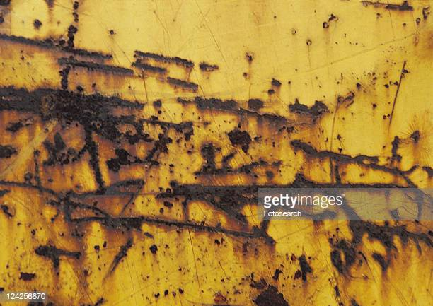 yellow, iron, pattern, structure, material, rust, metal - rust colored - fotografias e filmes do acervo