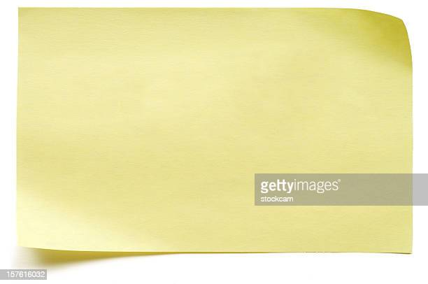 yellow isolated post-it note - rectangle stock pictures, royalty-free photos & images
