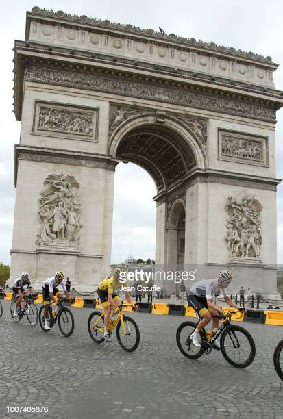 Yellow jersey Geraint Thomas of Great Britain and Team Sky during stage 21 of Le Tour de France 2018 between Houilles and Paris - avenue des...