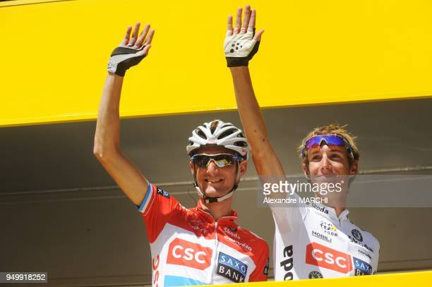 Yellow jersey German Stefan Schumacher leaves the antidoping control bus after urine tests on July 9 during the 232 km fifth and longest stage of the...