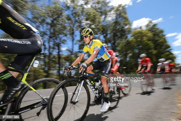 Yellow jersey leader and overall winner Esteban Chaves of Columbia and the MitcheltonScott Team rides Jayco Herald Sun Tour stage 4 1521km road race...