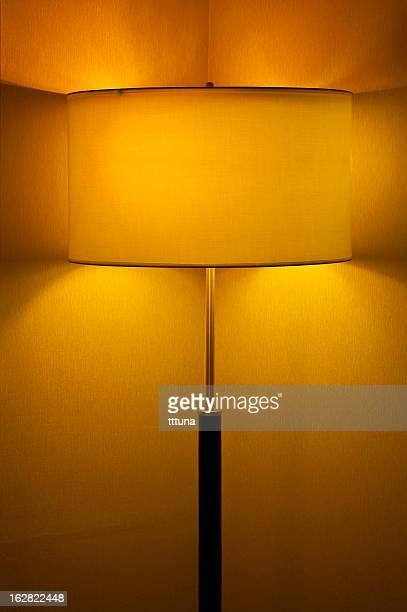 yellow lamp, long exposure of creative light painting