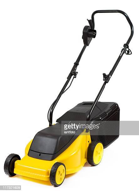 Yellow lawnmower