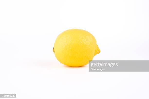 yellow lemon on white background - image stock pictures, royalty-free photos & images