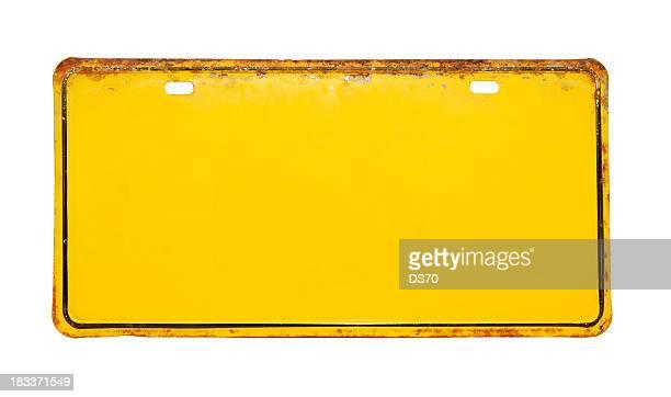 Gelbe Nummernschild