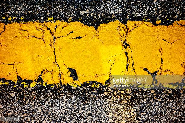 yellow line - dividing line road marking stock photos and pictures
