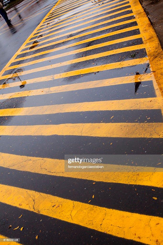 Yellow lines : Stock Photo