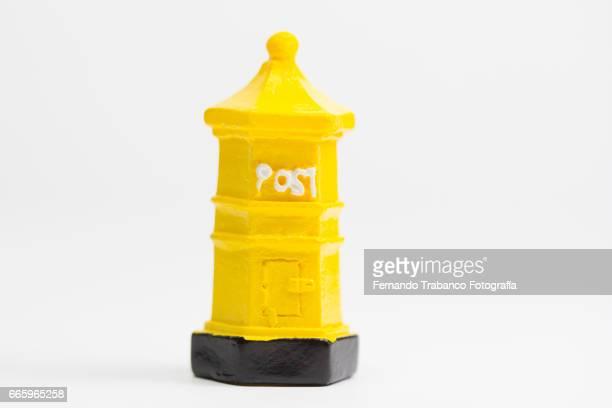 Yellow mailbox. Post