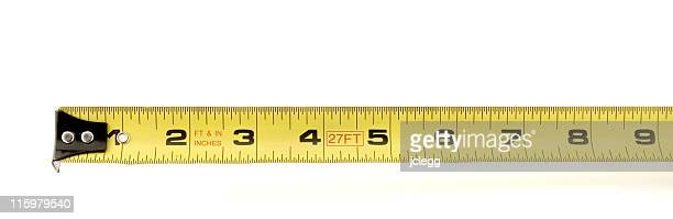 yellow measuring tape - inch stock pictures, royalty-free photos & images