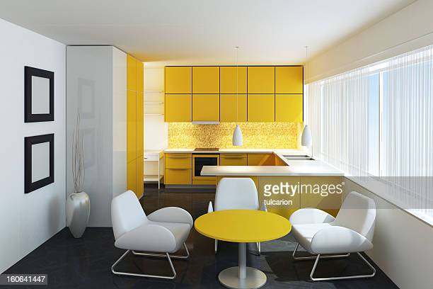 Yellow Minimalist Kitchen