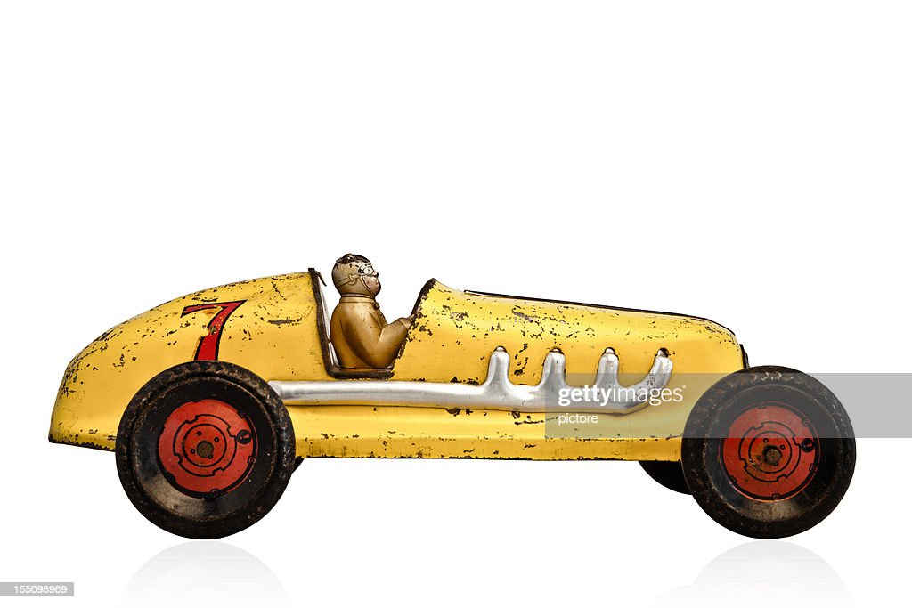 Yellow Model Race Car With A Number 7 On It Stock Photo   Getty Images
