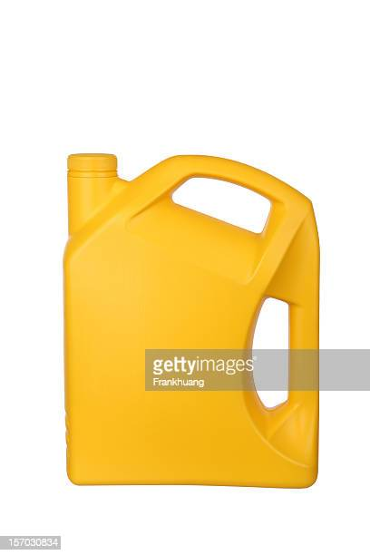yellow motor oil bottle on white background - motor oil stock pictures, royalty-free photos & images