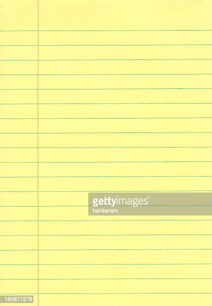 yellow notepad - lined paper stock photos and pictures