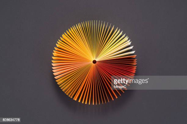 Yellow Orange Colored Book Pages Pie Chart