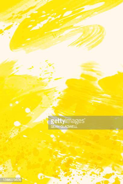 yellow paint - yellow stock pictures, royalty-free photos & images