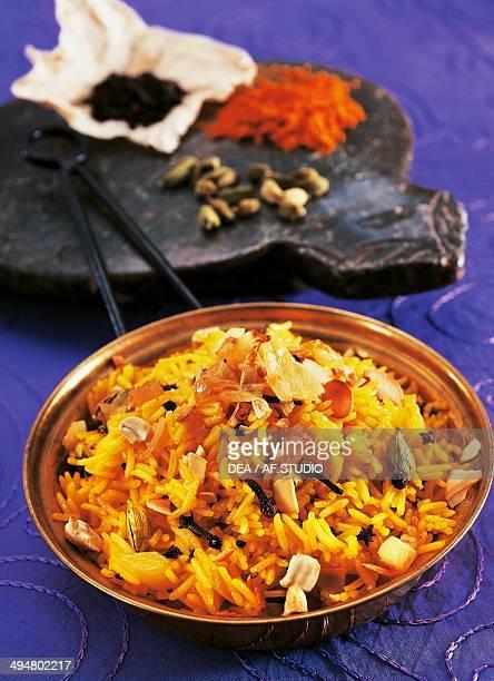 Yellow pilaf rice