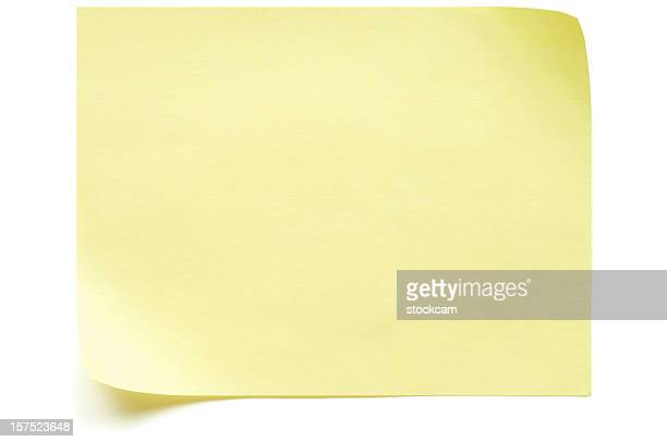 Yellow Post-it Note isolated on white