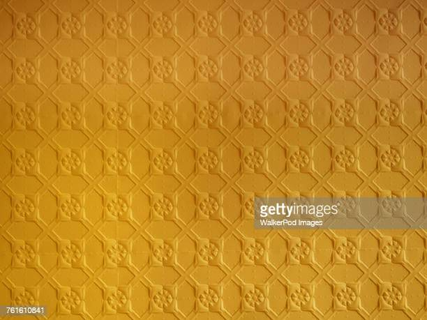 Yellow pressed tin ceiling