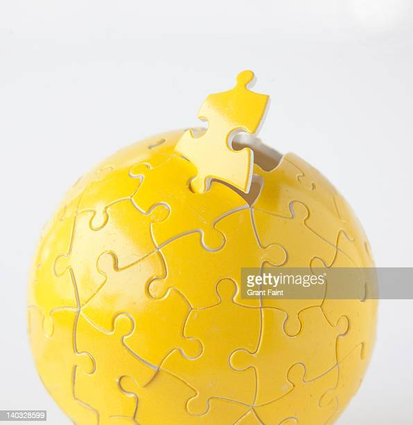 Yellow puzzle ball.