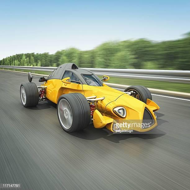 Gelbe Rennwagen
