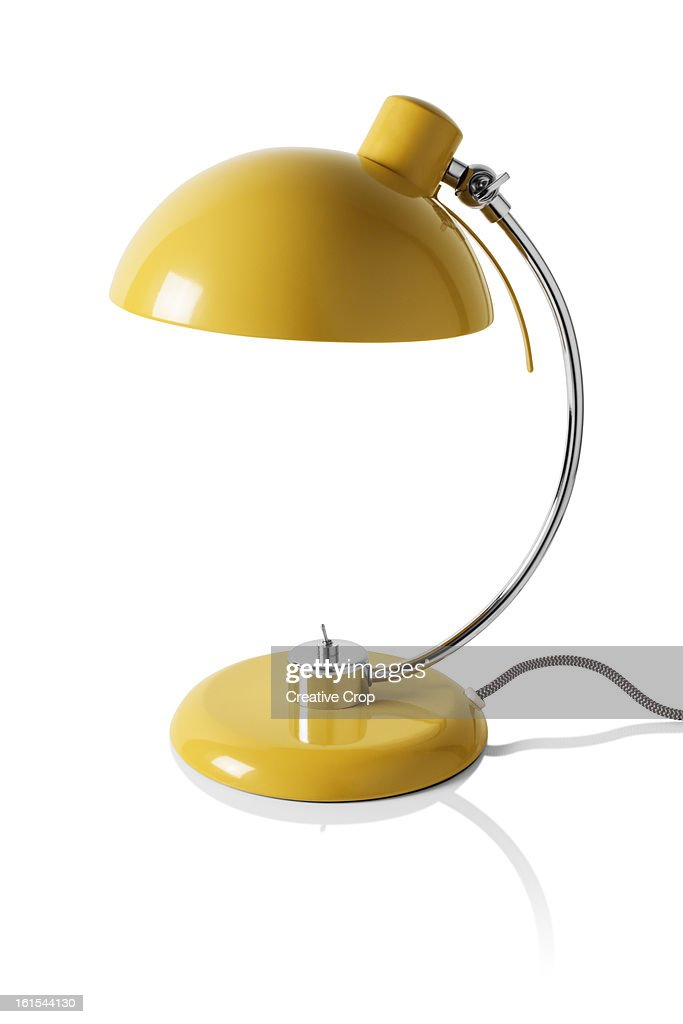 Yellow reading / desk lamp : Stock Photo