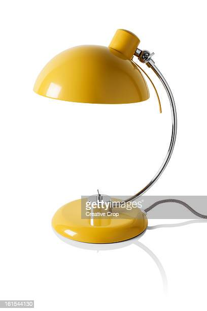 yellow reading / desk lamp - lamp stock photos and pictures