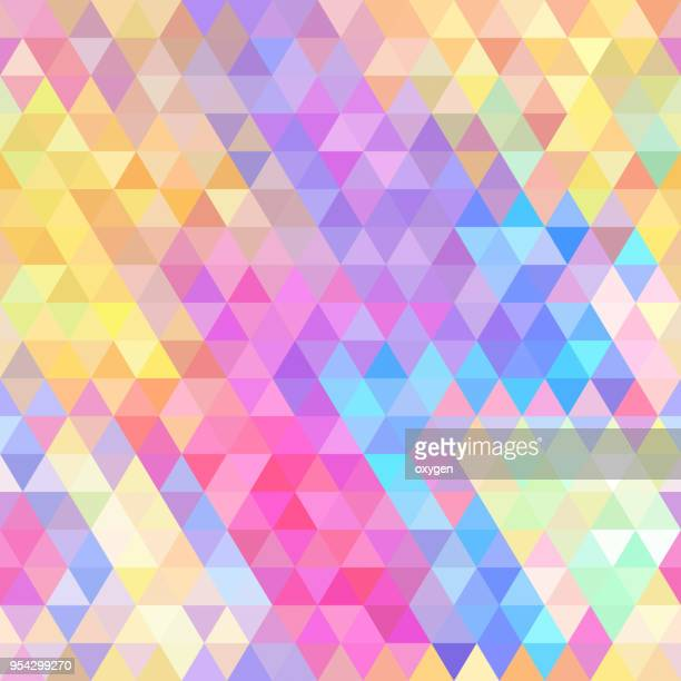 Yellow, red and blue triangular abstract background