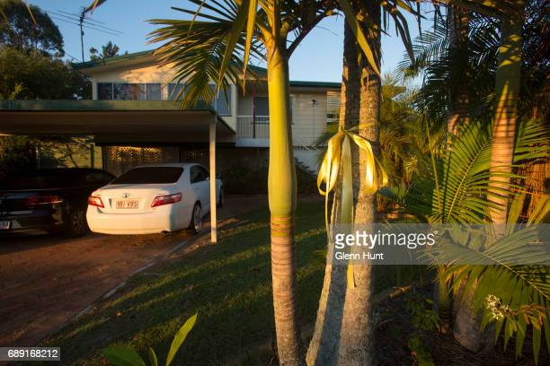 A yellow ribbon tied outside Schappelle Corby's mother's house in Loganlea to celebrate here arrival on May 28 2017 in Brisbane Australia Schapelle...
