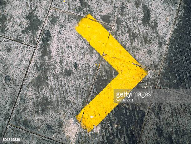 yellow right arrow - arrow symbol stock pictures, royalty-free photos & images