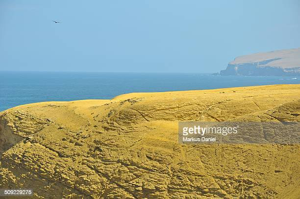 Yellow Rocks near Isthmus of Paracas Peninsula