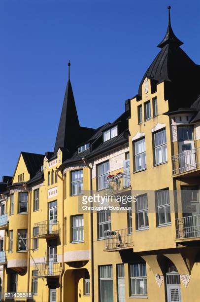 Yellow Rowhouses in Helsinki