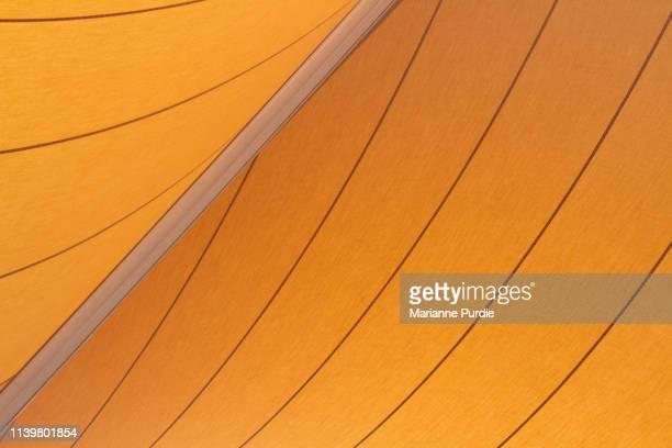 yellow shade sail - 帆 ストックフォトと画像